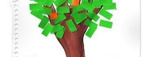 Artık materyal çalışması olarak etiket ağaç