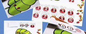 Uğur böceği ile toplama- çıkarma oyunları